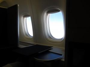ANAファーストクラス 成田へ到着までの残りの時間を名残惜しみながら過ごします。