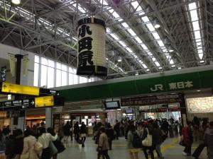ハイアットリージェンシー箱根へは東京駅から小田原駅まで東海道本線のグリーン車で向かいます。