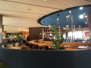 ベルラーゴ。レストランエリアとカフェエリアに分かれていました。ドリンクだけでも利用できます。