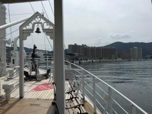 ミシガンは間もなく大津港へ到着です。