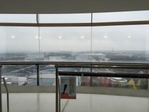アサヒビール茨城工場アイムタワーからの眺望。晴れていたらもっと遠くまで見渡せたと思います。