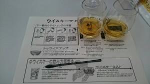 ウィスキーのテイスティングを、いろいろな飲み方で楽しみます。