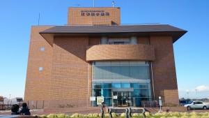 首都圏外郭放水路の資料館「龍Q館」。見学の集合のもここ。