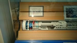 首都圏外郭放水路を掘削したシールドマシンの模型。アツい!