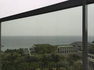 翌朝はまさかの雨。天気予報は見ていたのですが、往路のことしか考えてなかったです…