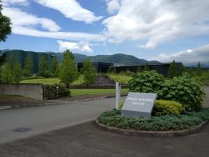 アサヒビール神奈川工場。大自然の中でとても気持ちいい場所でした。