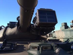 74式 戦車の砲身。