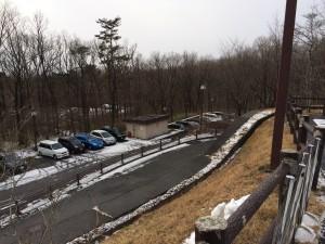 「ラフォーレ那須」は小高い丘の上にあったので車で坂を下れるか本気で心配しました。