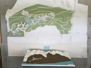 淡路島にある淡路夢舞台の全体図。