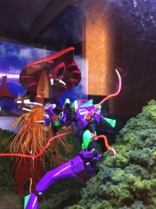 海洋堂展にはエヴァのジオラマもありました。