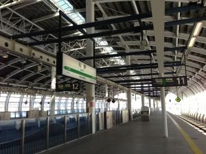 東北新幹線の八戸駅。来るのは生まれて初めてです。