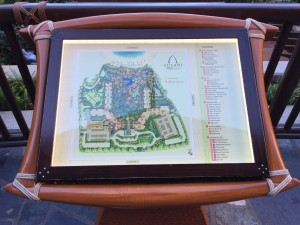 アウラニのエリアマップ。アウラニ初心者の自分はこの地図で全体感を把握します。