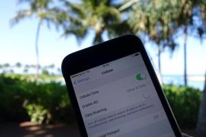 iPhone 6のアメリカ放題を利用中は、データローミングはオフにしておきます。
