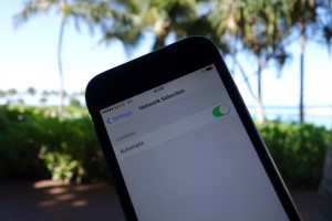 iPhone 6のアメリカ放題では、キャリア選択は「自動」のままにしておきます。