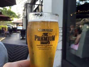 コオリナ ステーション&センターのSushi Yuzu(寿司 ゆず)のプレモル。ハワイのビールもいいけど、やっぱりプレモルがうまい!泡が少ないところだけ、アメリカ仕様。