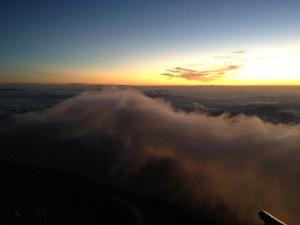 山頂に到着したのはぎりぎり日の出前。