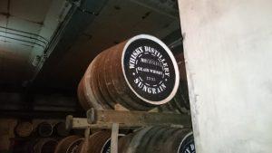 グレンウイスキーの樽です。中身は知多蒸留所で作られているそうです。