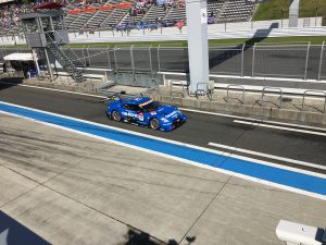 闘将・星野監督率いるカルソニックインパルGT-R。ポールポジション獲得で乗りに乗ってる。