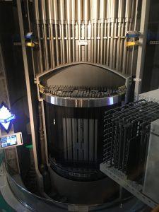 圧力容器の内部模型。