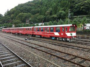 大井川鐵道のもう一つの名物「アプト式列車」。